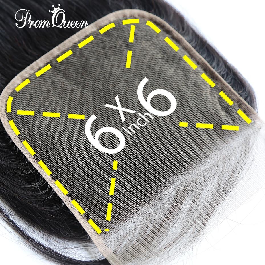 6*6 5*5 TOP Lace Closure Peruvian Hair Straight Lace Closure 1/Pcs Natural Color 100% Human Hair Extensions Free Shipping