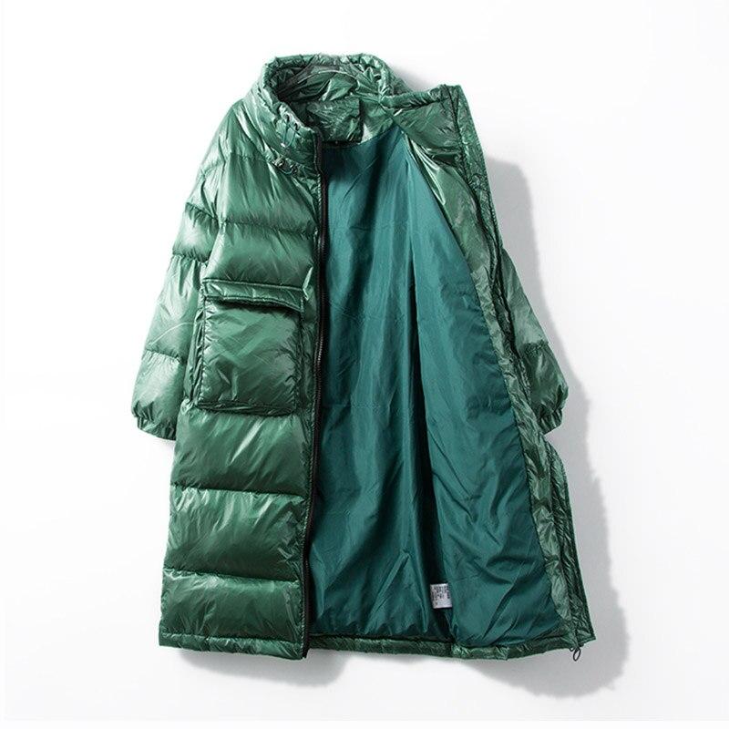 Fitaylor nowa kurtka zimowa kobiety płaszcz puchowy kobiet gruba biała kaczka dół kurtki damskie długie płaszcze ciepłe ubrania w Płaszcze puchowe od Odzież damska na  Grupa 2