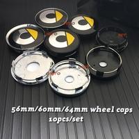New 56mm 64mm 135MM 5 Spoke New Grey Black 60mm Smart logo car emblem Wheel Center Hub Cap Rim badge decoration covers styling