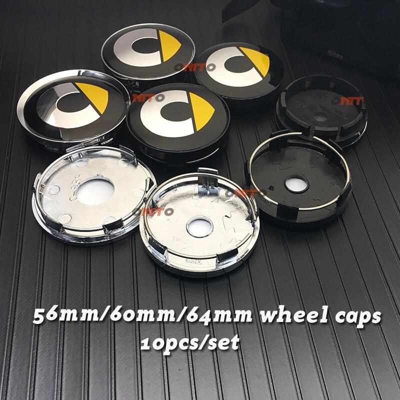 Nouveau 56mm 64mm 135mm 5 Parle Nouveau Gris Noir 60mm Smart logo emblème de Roue de voiture Center hub Cap Jante badge décoration couvre style