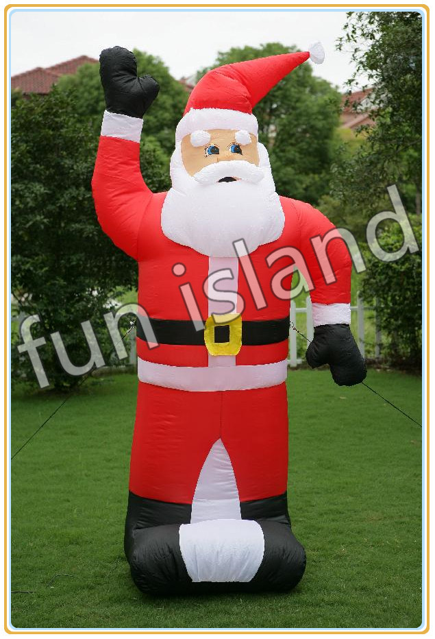 Free shipping Outdoor Inflatable Christmas Hunter Santa Inflatable Father Christmas Family Celebration giant christmas inflatable 5m high inflatable christmas santa claus cartoon for outdoor party events festival toy