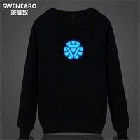 SWENEARO Glow In The Dark 3D Hoodies Iron Man Sweatshirt Tracksuit Men Hip Hop Hoodies Pullover
