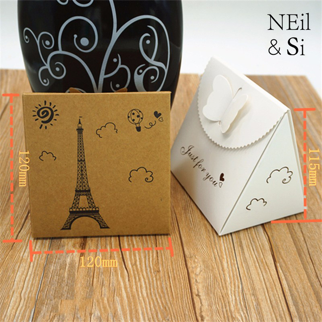 Kraft Paper Box for Wedding Favor Gift Candy Cookies Handmade Soap ...