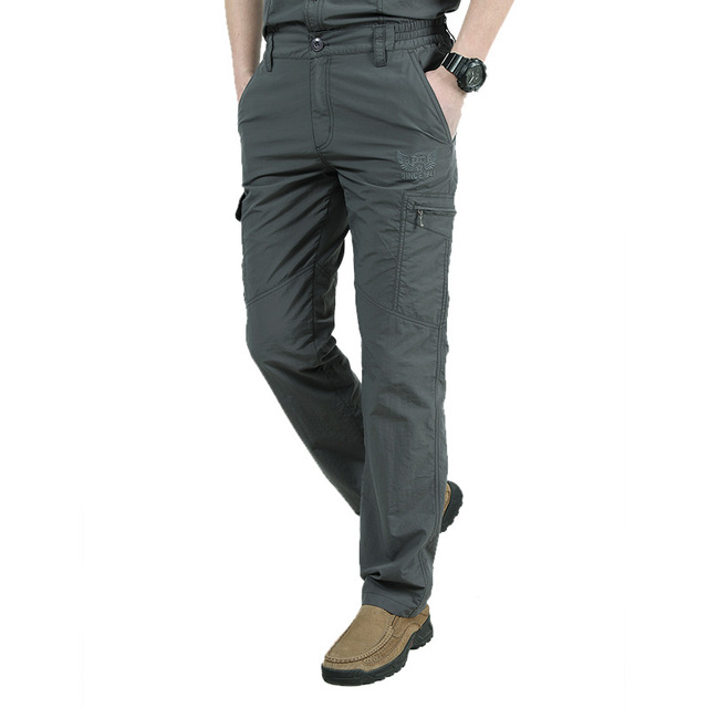 Men's Military Style Cargo Pants Men Summer Waterproof Breathable Male Trousers 3