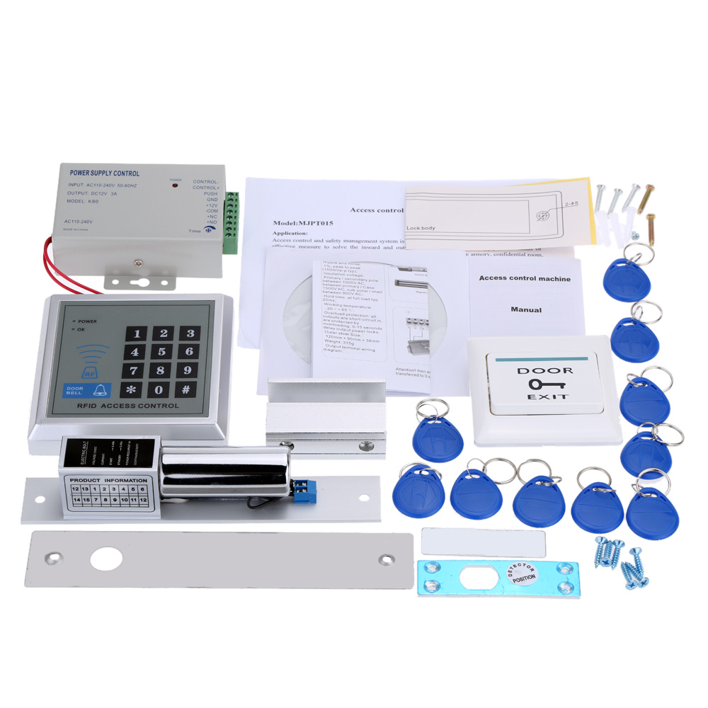 Aliexpress Buy Rfid Door Access Control System Kit Password – Keys Can Access Control Wiring Diagram