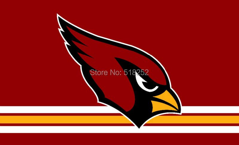 Arizona Cardinals Three Lines Flag 3x5 FT 150X90CM NFL Banner 100D Polyester Custom flag603, free shipping