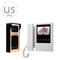 V43e168 ids HD видео телефон двери домофон Системы открытый Камера Ночное видение ID Card unclocking indoor Мониторы