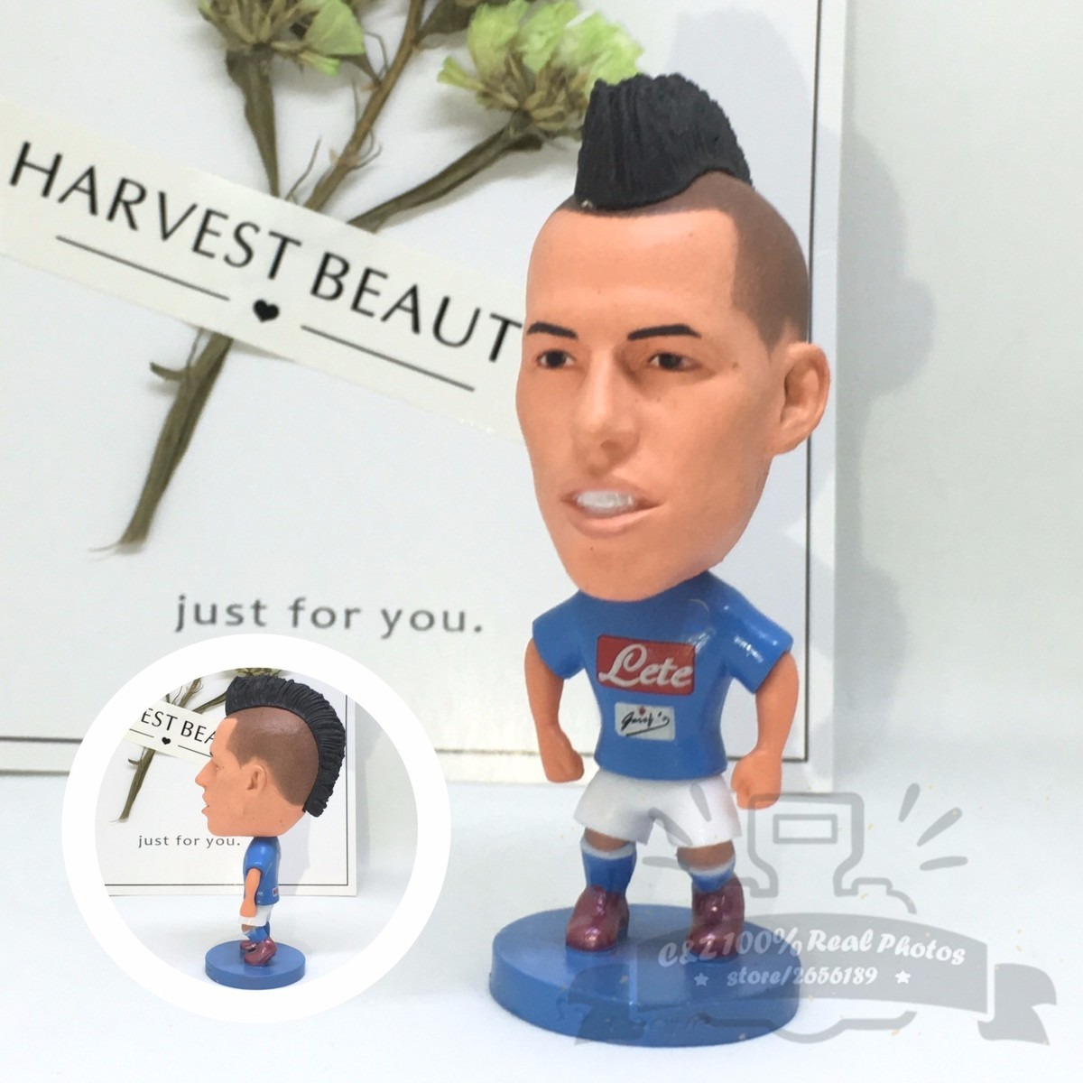 Soccerwe dolls figurine football stars 16-17 Npl Hamsik 17# Movable joints resin model toy action figure dolls collectible gift 35cm collectible chinese dolls ancient costume summer girl dolls with 12 joints movable vintage season series bjd doll toys gift