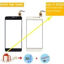 5.0 For Alcatel One Touch Idol X OT6040 6040 6040A 6040D 6040E OT6040X Screen Panel Sensor Digitizer Front Glass