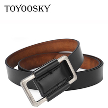Genuine Leather Belts for Women  Luxury Female Top Quality Straps Ladies Belt TOYOOSKY
