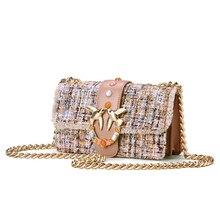 2018New estilo 100% Genuíno bolsas de couro para mulheres cadeia sacos de  Ombro de Moda Feminina colorido Andorinha senhoras tot. affea43720c