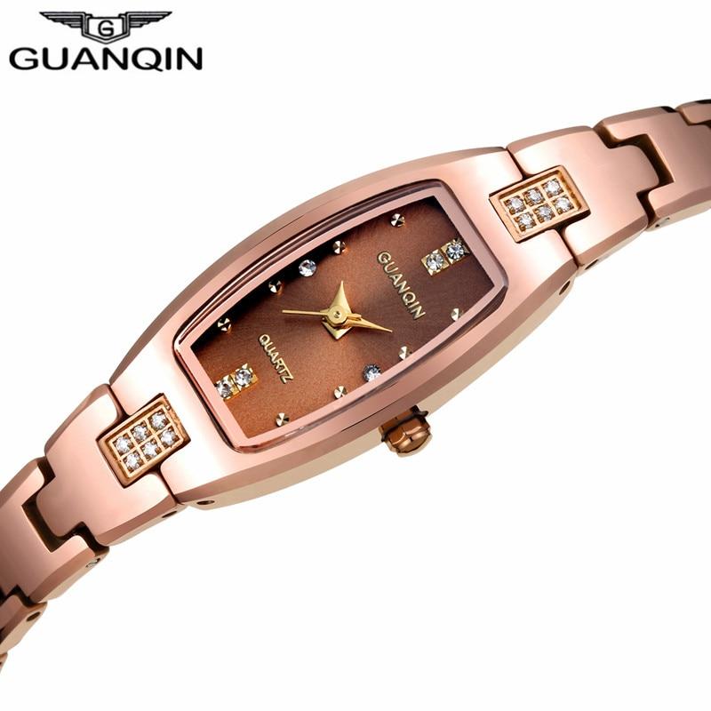 GUANQIN Bracelet Watches Ladies Fashion Dress Rectangle Elegant Women Luxury Brand Tungsten