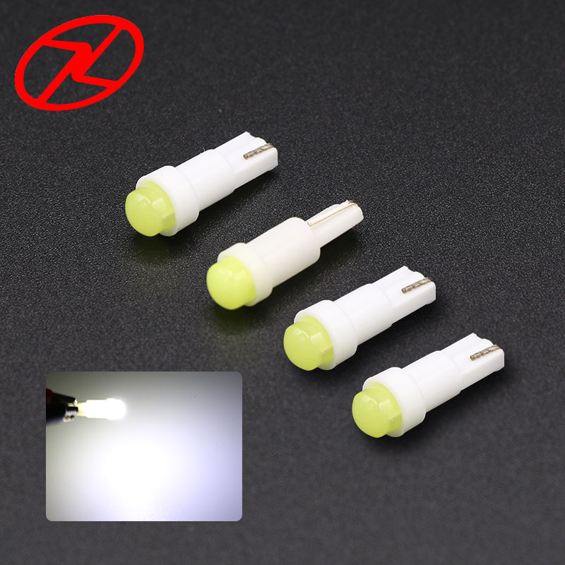 10 pcs T5 W2W B8.5D <font><b>Led</b></font> Ceramic <font><b>Lamp</b></font> <font><b>Car</b></font> Auto Dashboard Gauge Instrument Wedge Base 12V Side Light Bulb White image