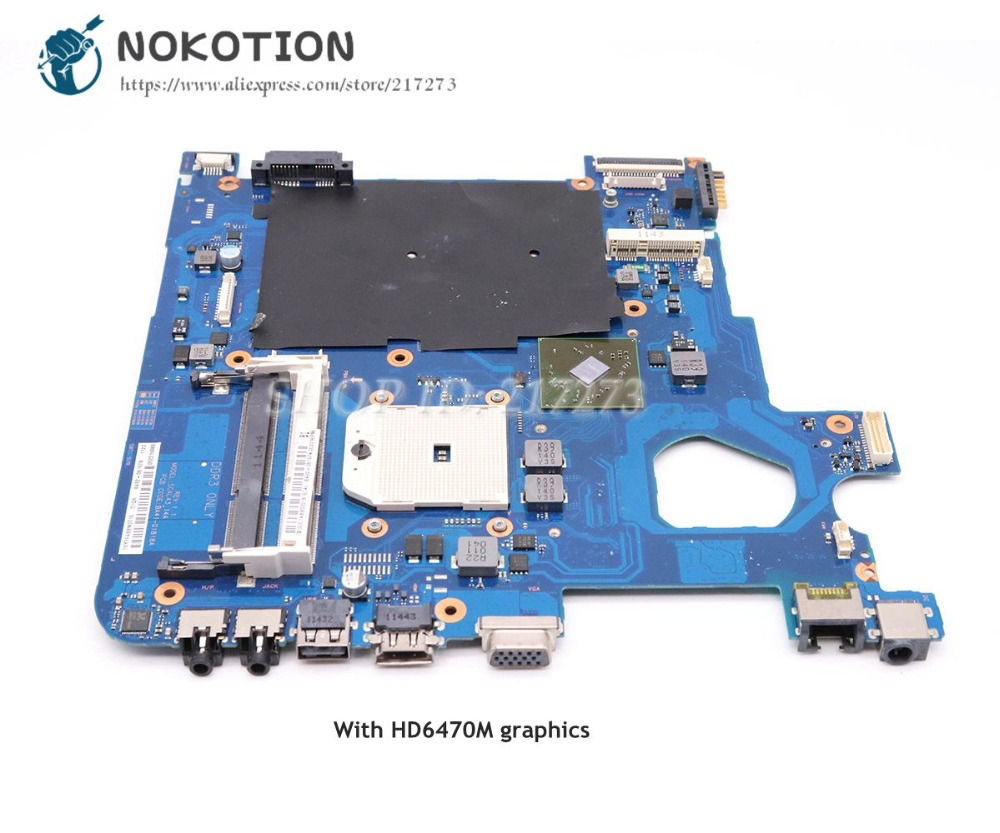 цена на NOKOTION For Samsung NP305E4A 305E5A 305E7A Laptop Motherboard Socket FS1 HD6470M BA92-08197A BA92-08197B BA41-01818A