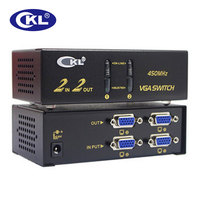 CKL VGA Switch Splitter 2 in 2/4 out Support 2048*1536 450MHz for PC Monitor TV Projector Metal CKL 222B & CKL 224B
