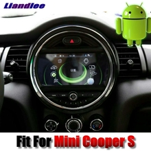 Liislee For Mini Cooper S 2016~2018 Car Multimedia Player NAVI Android system With iDrive Button Car Radio GPS Navigation