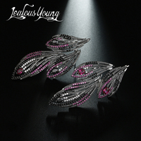 2017 New Trend Gothic Punk Rock Animal Drop Earrings For Women Top Quality Zircon Stone Black