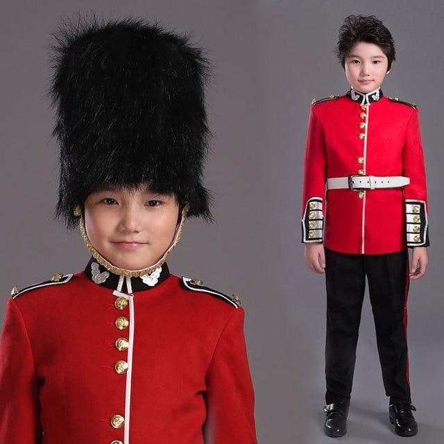 Halloween Costume For Children British Royal Guard Uniform Boys Cosplay Costume American soldier uniform Party Performance