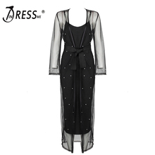 INDRESSME Sexy Deep V Backless Spaghetti Strap Mini Bodycon Spring Women Dress With Full Sleeve ress With Sashes Vestidos 2018