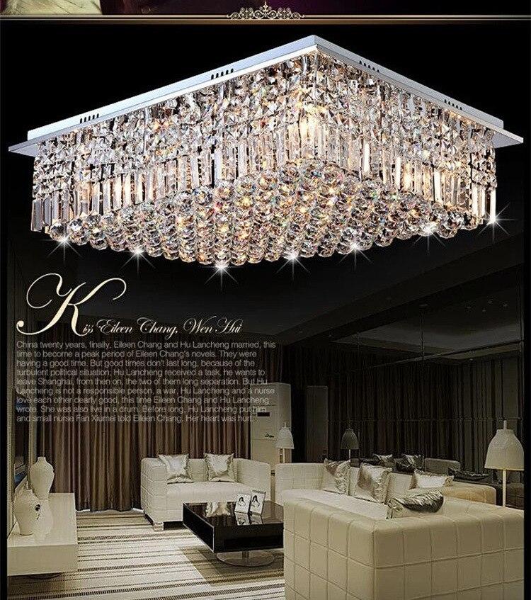 moderne carr argent cristal lustre chambre lustre salon. Black Bedroom Furniture Sets. Home Design Ideas