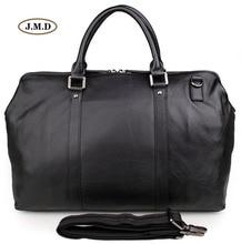 J.M.D Genuine Cow Leather Classic Black Men's Fashion Large-Capacity Travel Bag Computer Bag Shoulder Bag Handbag 7322A все цены