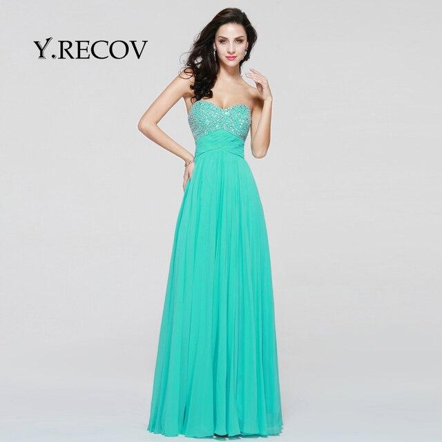 Winter Formal Gowns Yd2346 A Line Sweetheart Mint Long Beautiful
