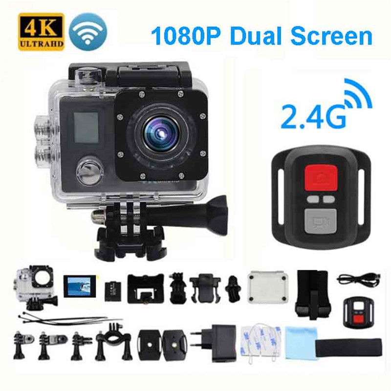 Ultra HD 4K Action Camera Wifi Camcorders 150 Dgreen cam 4 K deportiva 2 inch B6 B6R Waterproof Sport Camera pro 1080P 30fps cam image