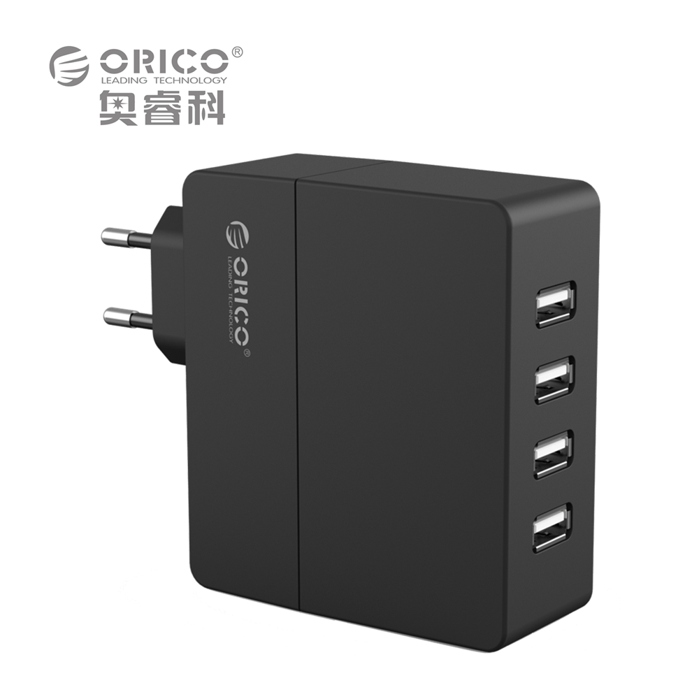 ORICO Universal USB Charger 4-Port 6.8A Smart USB Wall Charger Adapter 5V2.4A*4 34W for Smart Phone high quality usb hub power adapter wall home travel charger for phone 4 port