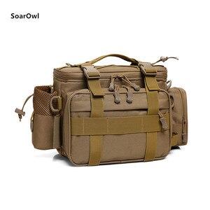 Image 2 - Multifunctional Shoulder Bag Fishing Gear Fishing Bag Waterproof Bag Outdoor Tactical Mountaineering Backpack Portable nylon