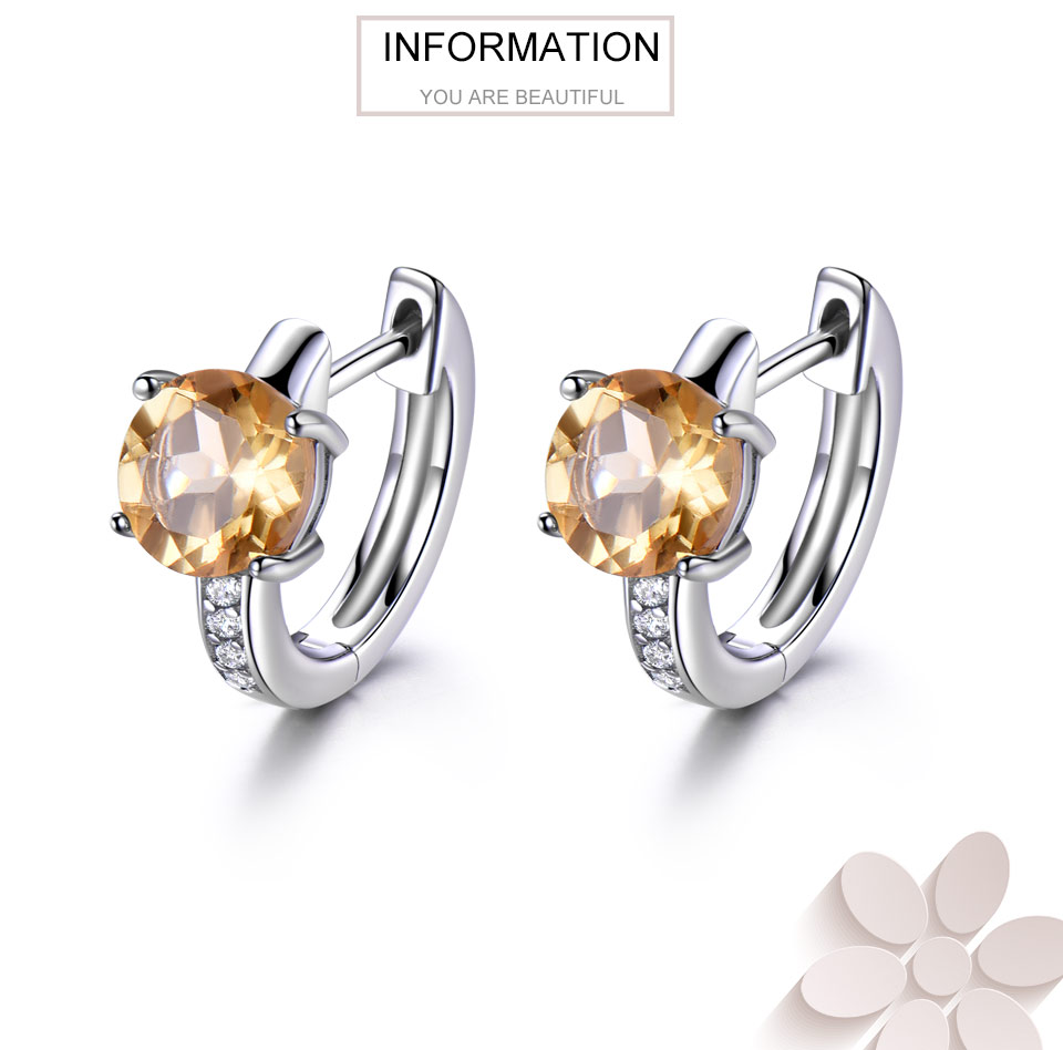 925 sterling silver natural citrine earrings for women (1)