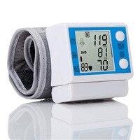 Ev Dijital Tansiyon Aleti LCD Bilek Otomatik Kan Basıncı Monitör Taşınabilir Tonometre Metre Için Yetişkin Kan Basıncı Manşet