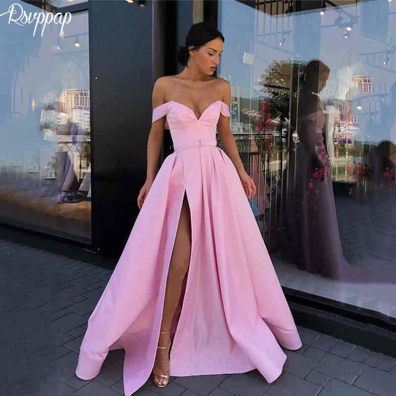 Long Elegant Evening Dress 2018 V-neck Cap Sleeve Sexy High Slit Dubai  Women Lebanon 375601a43bd1