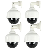 5 Packs 4x Fake Dummy Security Camera With Red Blinking LED CCTV Waterproof Surveillance Camera Adjustable