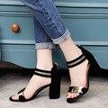 De Las Mujeres del verano Flip Flops Mujeres Sandalias de Punta Abierta Sandalias de Tacón Grueso Zapatos de Las Mujeres de Corea del Estilo Gladiador Plataforma Zapato de Cuña 808 W