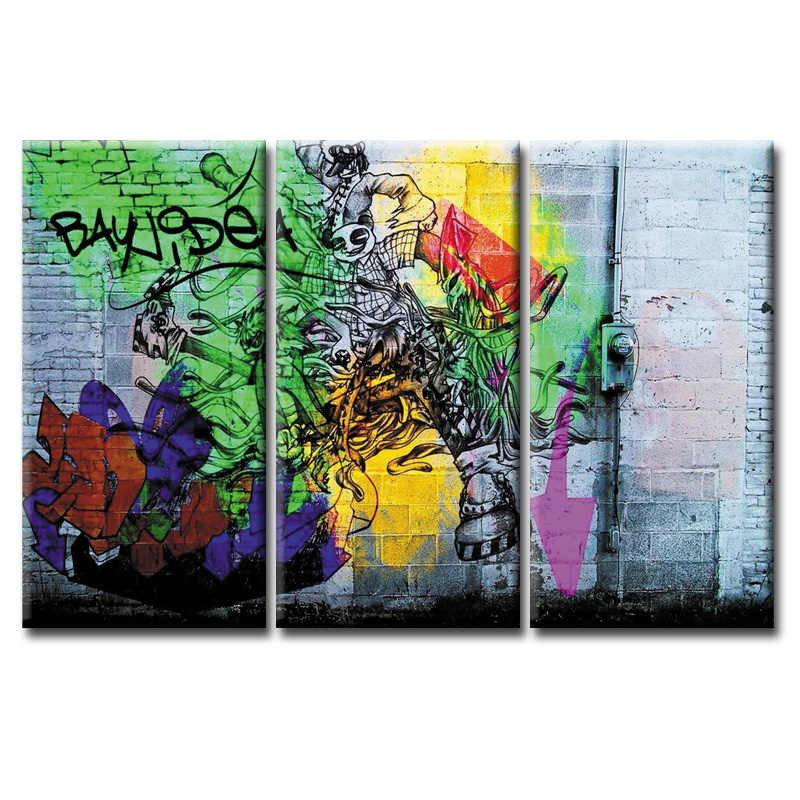 3 Pieces Framed Wall Art Picture Gift Home Decoration Canvas Print painting Graffiti poster series Wholesale/ Abstract -57