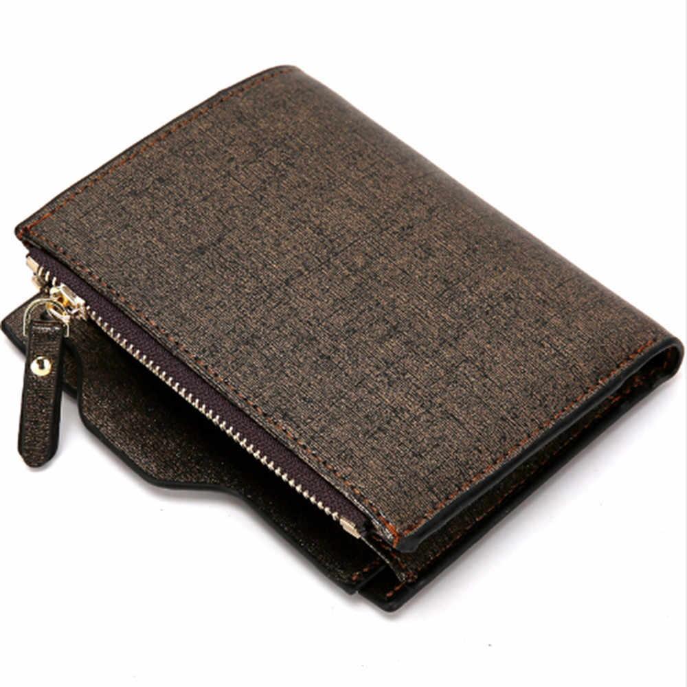 Роскошный короткий кожаный мужской бумажник клатч на молнии, сумки, кошельки, кошелек для монет, ручной Портфель, Cuzdan Walet Portomonee
