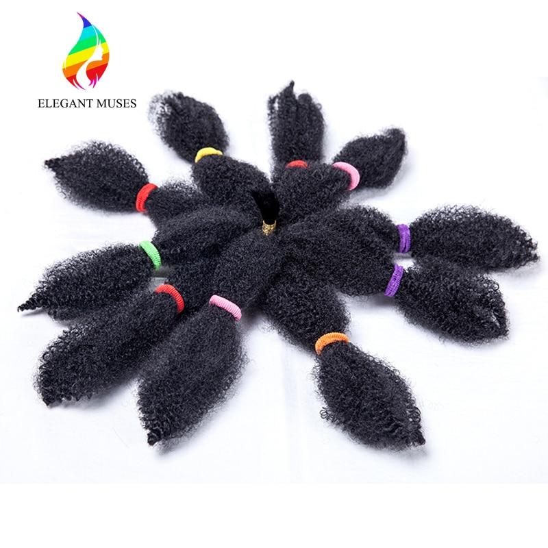 10-tumshårig Braid Hair Afro Kinky Twist Marley Braiding Hår - Syntetiskt hår