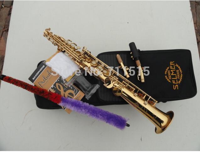 Beautiful Golden Musical Instruments Profesionales Straight Soprano Bb Alto Saxophone Sax Saxofon R54