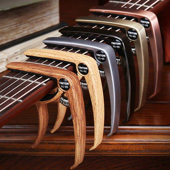 ალუმინის შენადნობის ლითონის გიტარა capo სწრაფი შეცვლა clamp გასაღები აკუსტიკური კლასიკური გიტარა capo ტონი რეგულირება