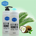 800ml 27oz virgin refined coconut oil for health/skin.face/care basic/carrier oil edible cooking oil