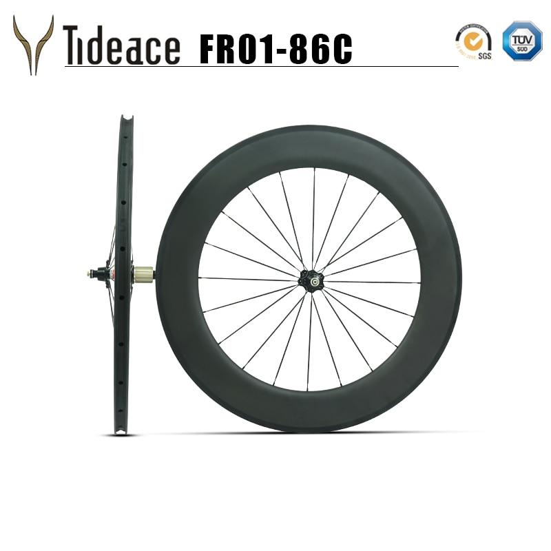 Clincher&tubeless 700C full carbon road rims 86mm wheelset 27mm width basalt brake surface UD carbon wheels Novatec 271hubs