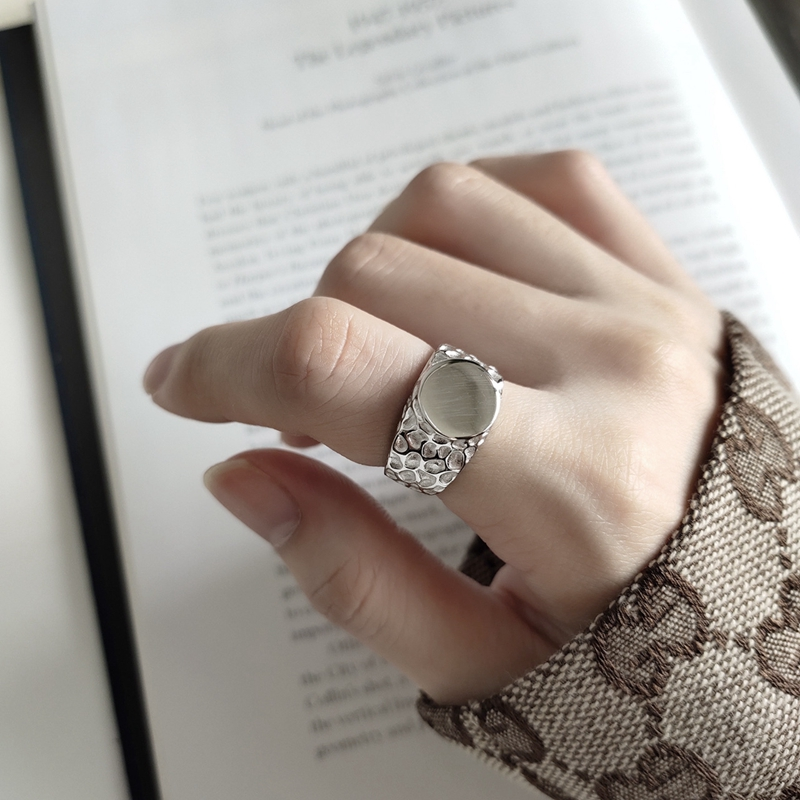 LouLeur Real 925 Sterling Silver Irregular Snake Pattern Rings Punk Style Round Open Ring Women Trendy Fashion Fine Jewelry 2019
