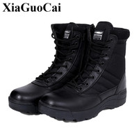 Big Size 46 Winter Autumn Brand Men Military Leather Boots Special Forces Tactical Desert Combat Boats