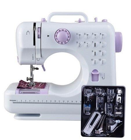 Fanghua Mini 12 Points Machine À Coudre Ménage Multifonction Double Fil Et Vitesse Livraison-Bras Artisanat Réparation Machine LED
