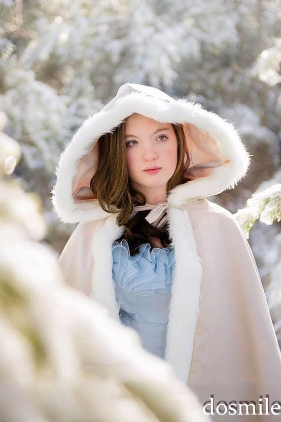2016-Custom-Made-fur-Classic-Bridal-cape-37-inch-champagne-Ivory-Satin-Middle-Length-wedding-cloak