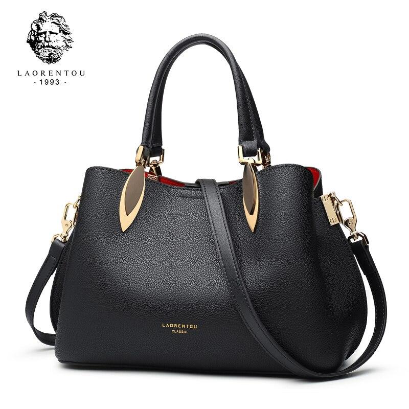 где купить LAORENTOU Brand Women Handbag Fashion Shoulder Messenger Bag Lady Crossbody Bag 2018 New Large-Capacity Leather Atmospheric Tote по лучшей цене