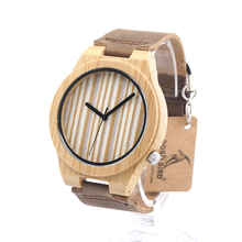 BOBO BIRD Wooden Women's Watches Handmade Bamboo Wooden Wristwatches Leather Band Luxury Ladies Wood Watches as Gifts