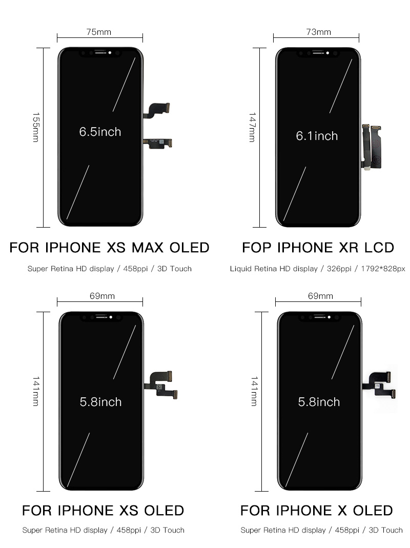 Image 5 - Grade AAA LCD Display Replacement For iPhone X OLED Quality LCD Module with Touch Screen Digitizer Assembly No Dead Pixel-in Mobile Phone LCD Screens from Cellphones & Telecommunications