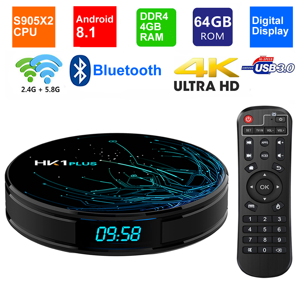 T95Q Android 8 1 Smart TV BOX DDR4 4GB RAM 64G ROM Amlogic
