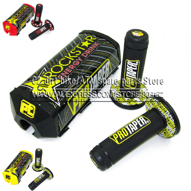 Dirt Pit Bike PROTECTOR MOTOCROSS BAR PROTAPER Handlebar Breast Pad & PRO Handle Grips KTM CRF YZF KLX BSE Kayo
